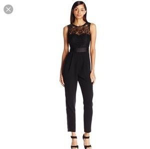 BCBGeneration Black Lace Jumpsuit